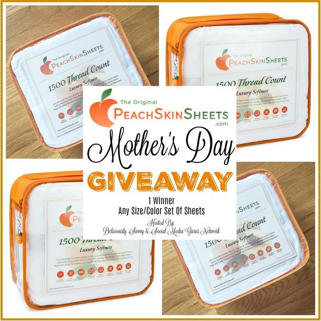PeachSkinSheets Mother's Day Giveaway