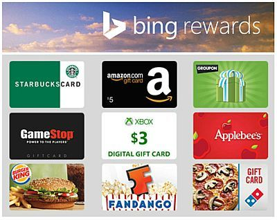Search Bing and Get Rewarded. Join Bing Rewards FREE!