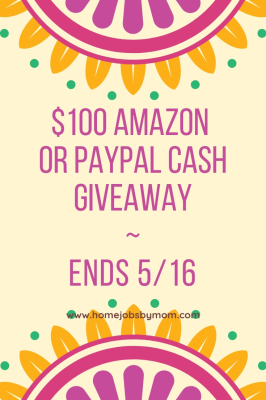 $100 Amazon Gift Card or PayPal Cash Giveaway - 5/16