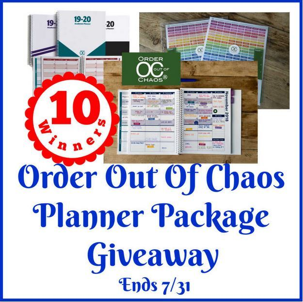 Order Out Of Chaos Planner Package Giveaway Ends 7/31