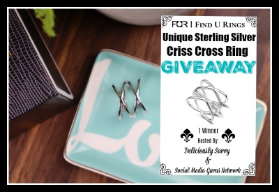 Find U Rings Unique Sterling Silver Criss Cross Ring Giveaway
