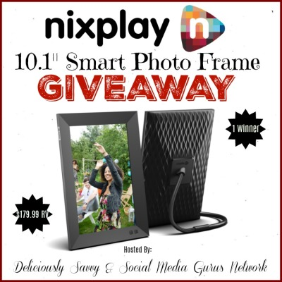 Nixplay 10.1: Smart Photo Frame Giveaway Ends 12/15